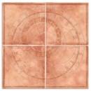 Placa decor Roseton Zodiac Salmon